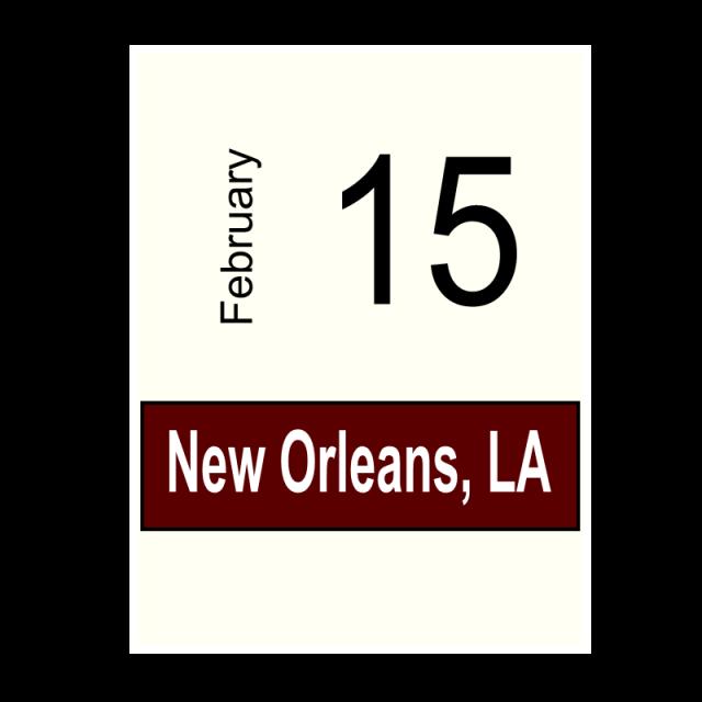 New Orleans, LA- February 15