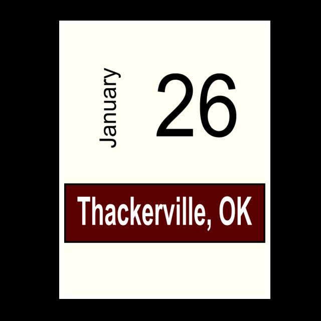 Thackerville, OK- January 26