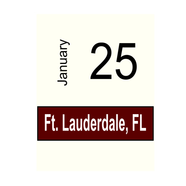 Ft. Lauderdale, FL January 25, 2020
