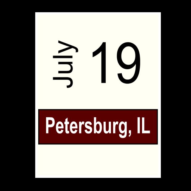 Petersburg, IL- July 19