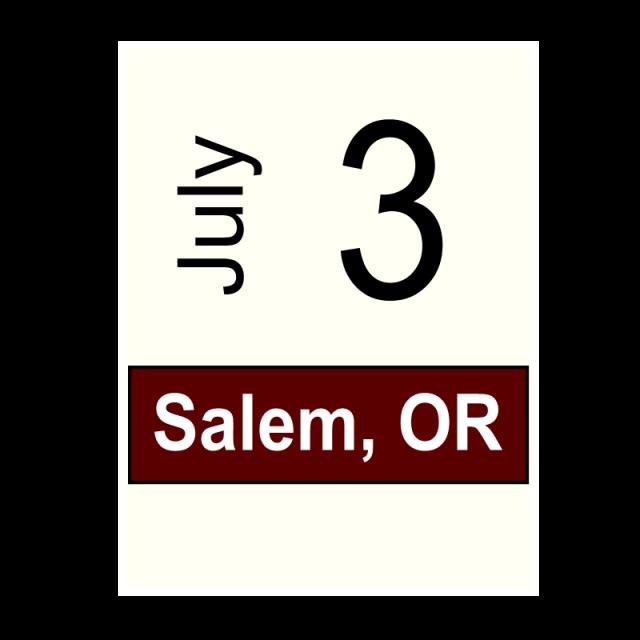 Salem, OR- July 3