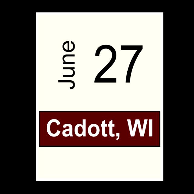 Cadott, WI June 27