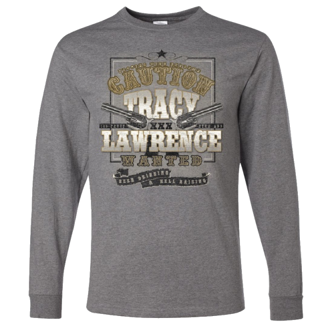 Tracy Lawrence Long Sleeve Oxford Grey Tee