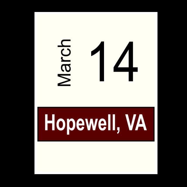Hopewell, VA-March 14