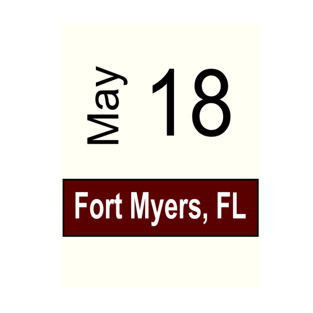 Fort Myers, FL- May 18