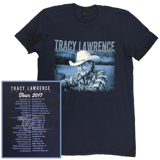 Tracy Lawrence Navy Tour Tee