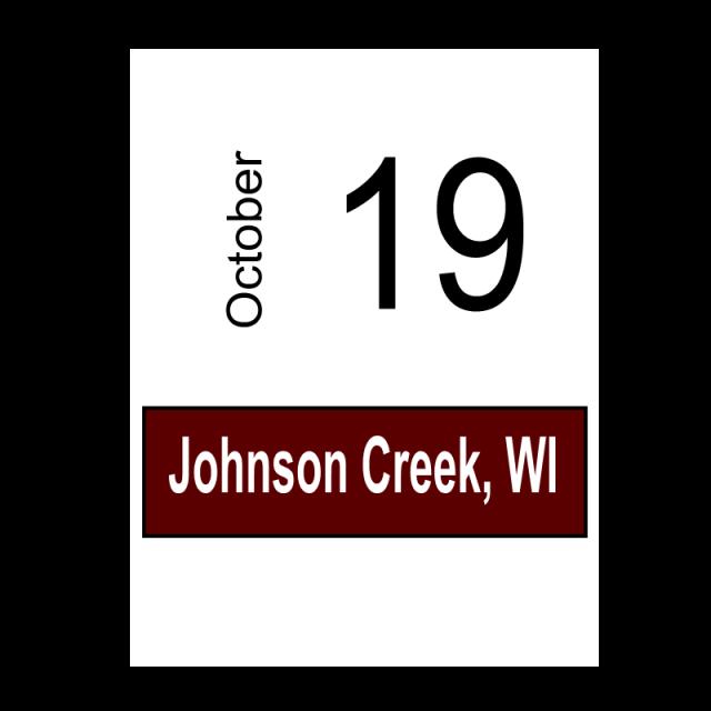 Johnson Creek, WI October 19