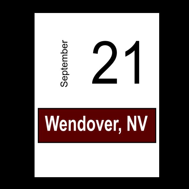 Wendover, NV- September 21