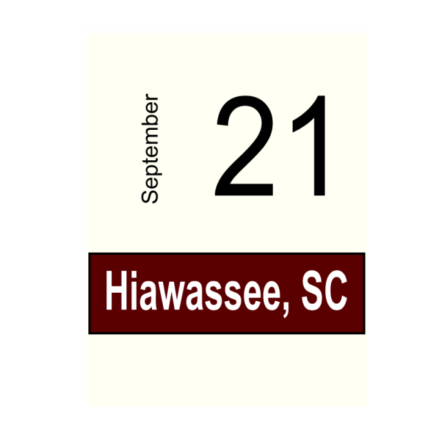 Hiawassee, GA- September 21