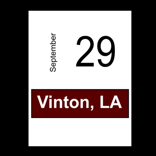 Vinton, LA- September 29