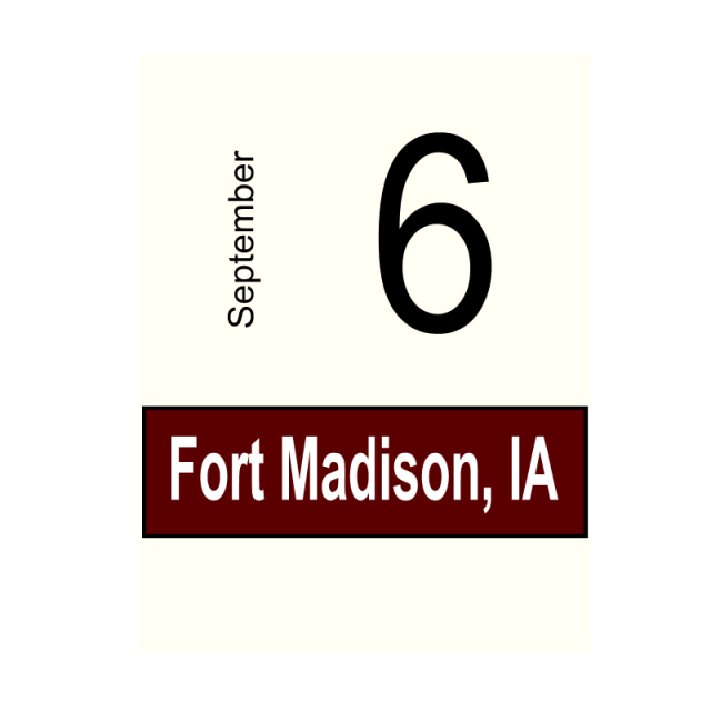 Fort Madison, IA- September 6