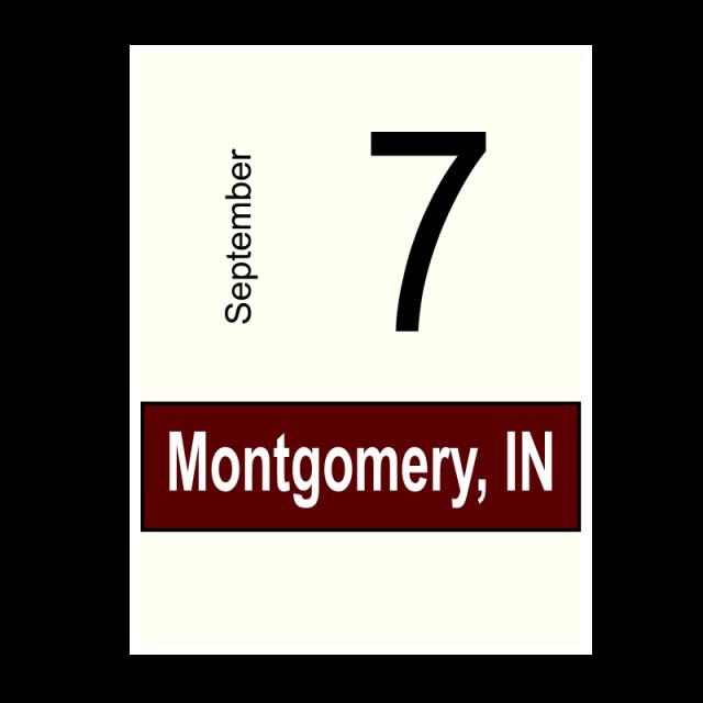 Montgomery, IN- September 7