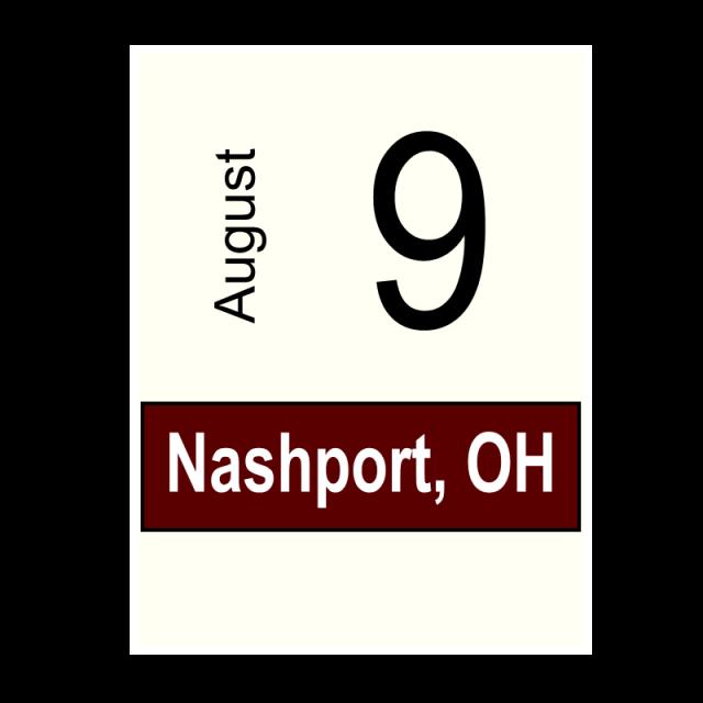 Nashport, OH- August 9