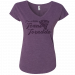 Tracy Lawrence Ladies V Neck Purple Tornado Tee
